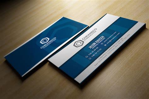 Stunning Business Cards Design Card Template Blue