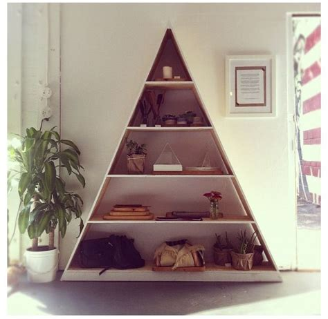 triangle bookshelf shelves