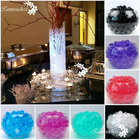 gel balls for centerpieces 2750pc water plant flower mud pearls gel