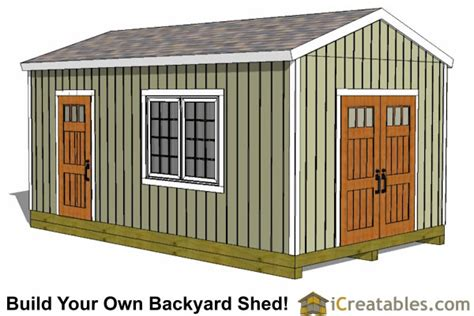 12x20 Storage Shed by 12x20 Shed Plans Easy To Build Storage Shed Plans Designs