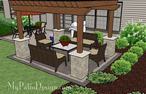 patio design plans simple brick patio with pergola patio designs and ideas