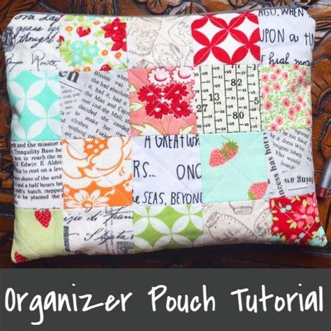 Patchwork Tutorials Free - patchwork organizer zipper pouch tutorial whew sew