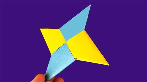 How To Make A Paper Throwing - origami how to make a paper shuriken diy