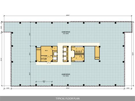 typical office floor plan ten story west belt office
