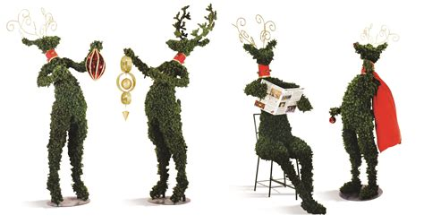commercial topiary reindeer a festive incognito marketing