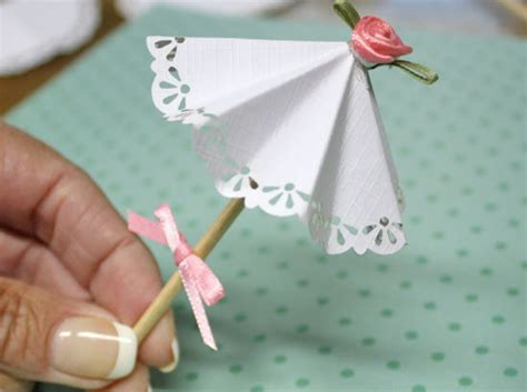 Paper Craft Blogs - diy paper doily parasol picks factory direct craft