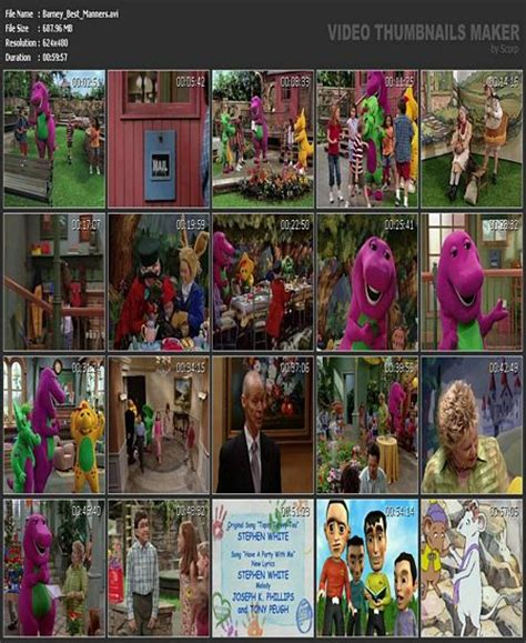 Barney And The Backyard Gang Dvd Barney Best Manners Your Invitation To Fun
