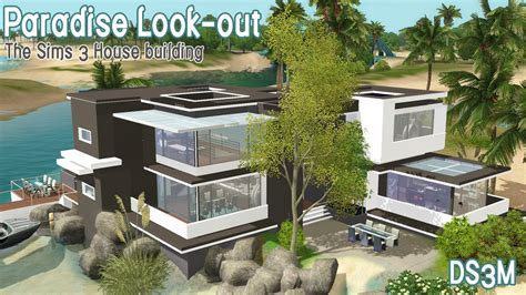 how to build a house in sims 3 the sims 3 house building paradise look out youtube