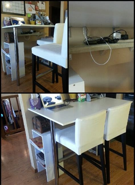 Diy Breakfast Bar Table Diy Kitchen Bar Height Breakfast Bar Cheap Table And Legs From Ikea Attach Table To Studs