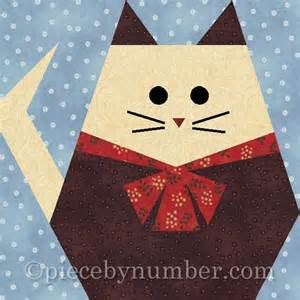 cat paper by piecebynumber quilting pattern