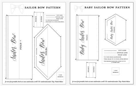 diy sailor bow tutorial and free pattern natalie malan