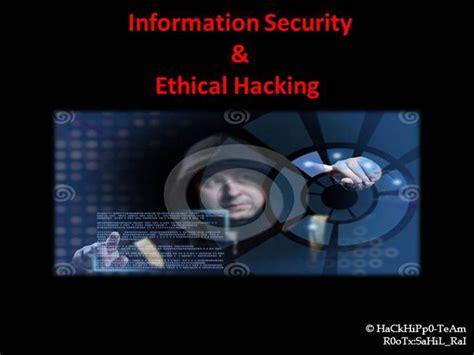 tutorialspoint ethical hacking pdf information security ethical hacking authorstream