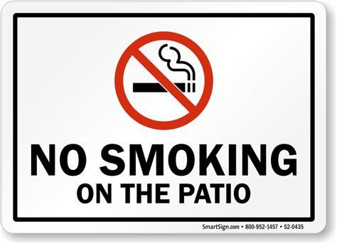 no smoking sign location facility no smoking signs