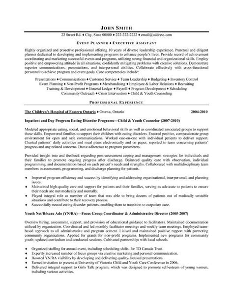 Resume Cover Letter Exles Event Planning Click Here To This Event Planner Resume Template Http Www Resumetemplates101
