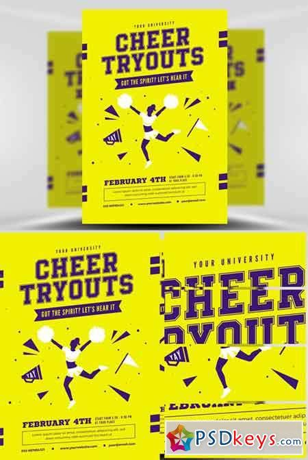 Flyer Templates 187 Page 23 187 Free Download Photoshop Vector Stock Image Via Torrent Zippyshare Free Cheerleading Tryout Flyer Template