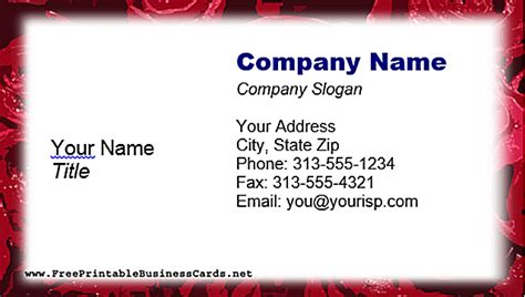 printable free business cards free business card templates for microsoft word