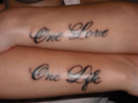 one life one love tattoo one one
