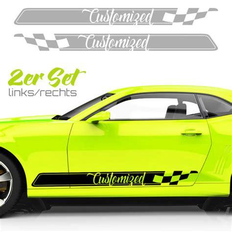 Autoaufkleber Seite by Auto Aufkleber Rennstreifen Seiten Aufkleber Lustige