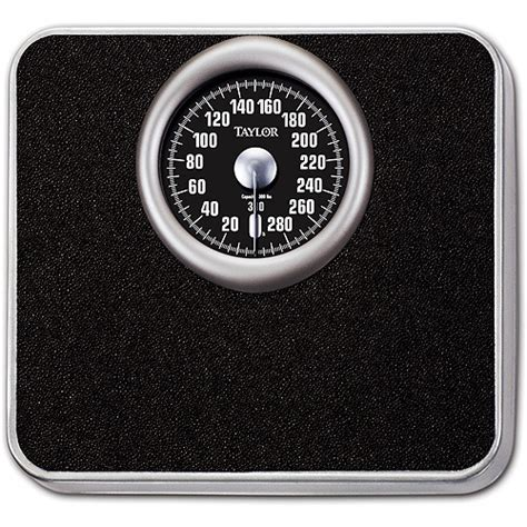 best analog bathroom scale taylor mechanical analog bath scale black model 4832