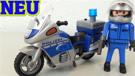 Polizei Motorrad Videos by Playmobil Polizei Motorrad Streife Mit Led Blaulicht Au