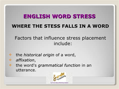 stress pattern in spanish english word stress 2012