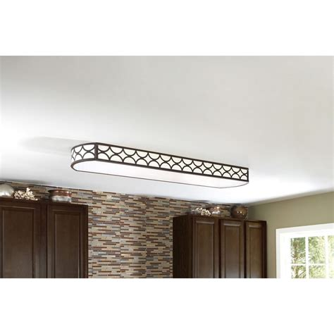 fluorescent kitchen lighting fixtures shop allen roth light bronze ceiling fluorescent light