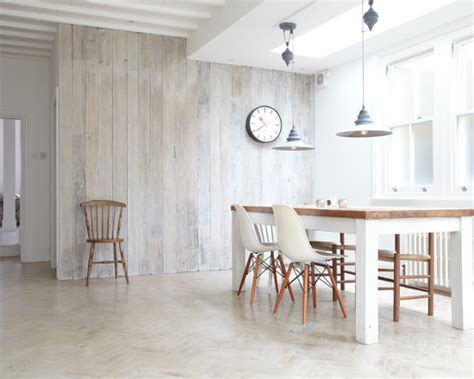 white wood panelled dining room dining room