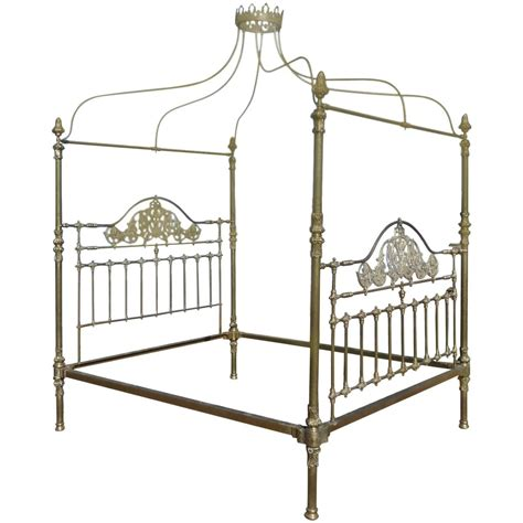 four poster beds for sale all brass crown and canopy four poster bed for sale at 1stdibs