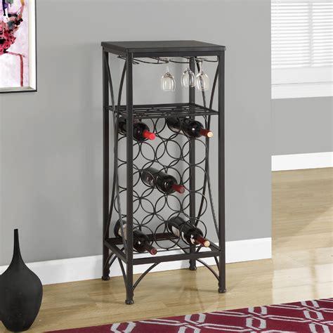 Wine Rack Black by Rosa Metal Wine Rack In Black Bar Storage Units