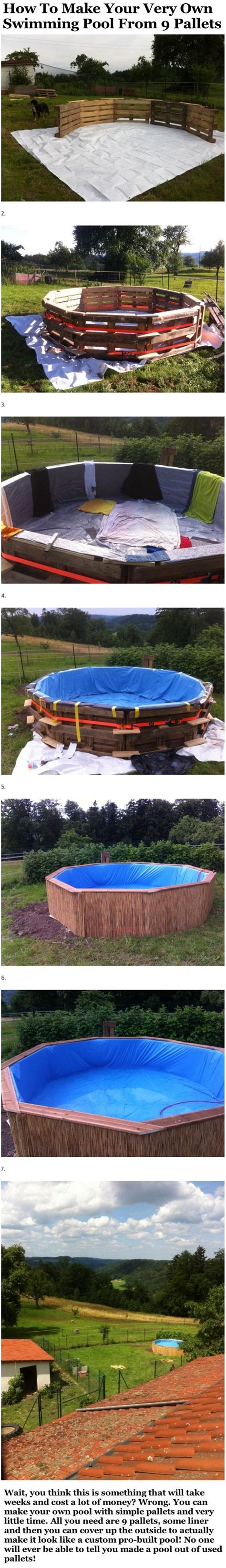 how to make a swimming pool in your backyard how to make your very own swimming pool from 9 pallets pictures photos and images