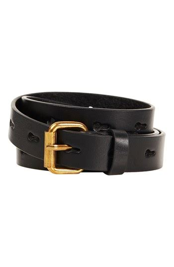 Shopping Topshop Leather Bow Belt by Topshop Punch Leather Belt Black Small Where To Buy