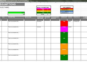 Project Raid Log Template by Project Crisis Management Dashboard Log Template