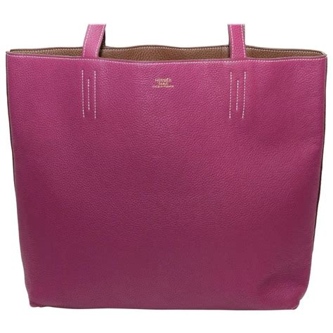 Tote Bag Tosca hermes 2013 tosca pink and brown reversible leather sens tote bag for sale at 1stdibs