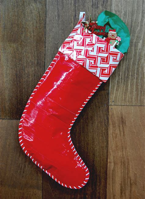 make a duct tape stocking diy ready