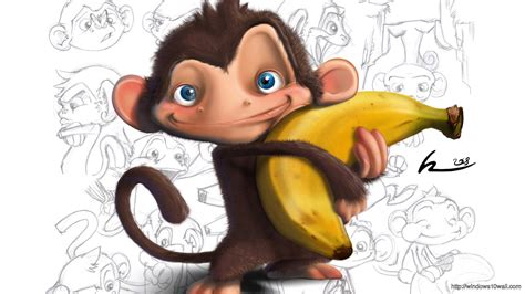 funny banana wallpaper hd monkey windows 10 wallpapers