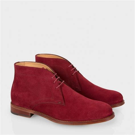 burgundy suede boots paul smith s burgundy suede desert boots in