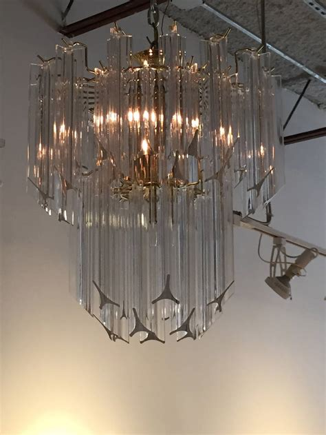 Waterfall Chandelier Mid Century Modern Lucite Waterfall Chandelier For Sale At 1stdibs