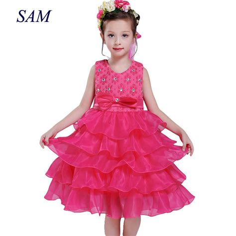 Dress Kid Bungashan 3 dress princess lace christening events wear dresses for children