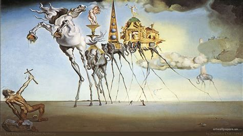 3 Paintings By Salvador Dali by Dali More Photos