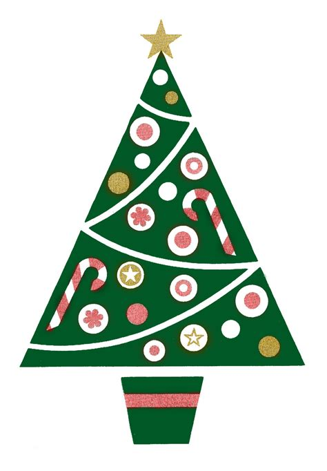 retro clip art fun and funky christmas tree the