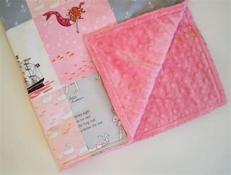 Patchwork Baby Blanket Tutorial - patchwork minky baby blanket in s out to sea
