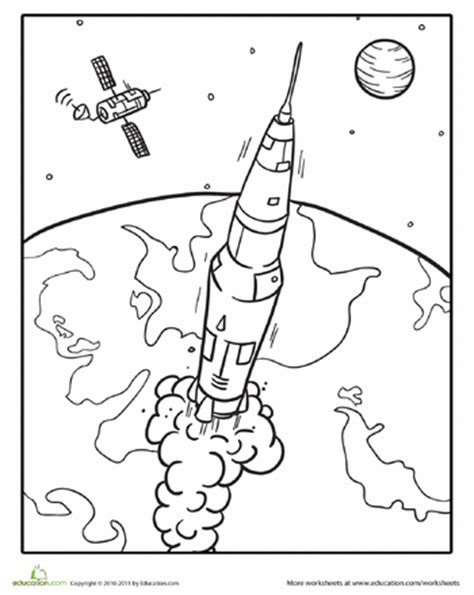 outer space coloring pages education com