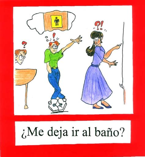 bathroom song in spanish spanish classroom expressions pics vibrante press