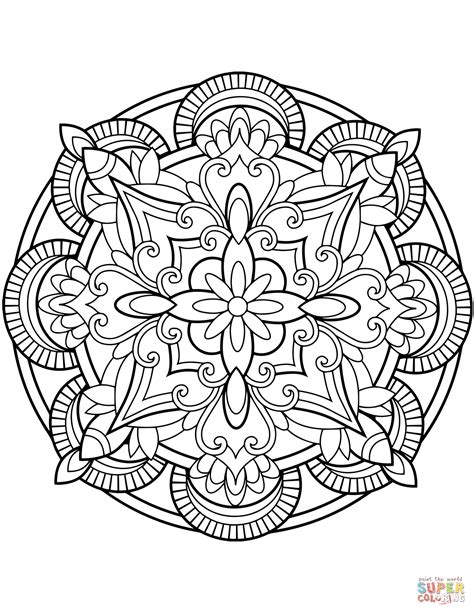 free mandala coloring pages flower mandala coloring page free printable coloring pages
