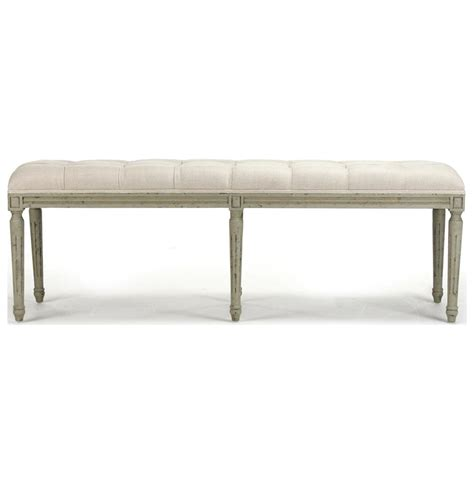white tufted bench french country louis xvi white tufted oak olive green long