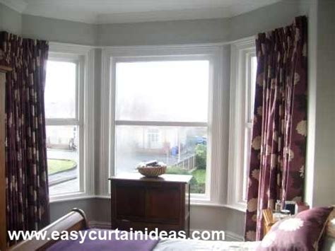 how to put curtains on bay windows bay window bay window curtain track