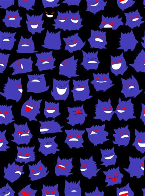 pokemon pattern iphone wallpaper gengar wallpaper gen wunners pinterest patterns i