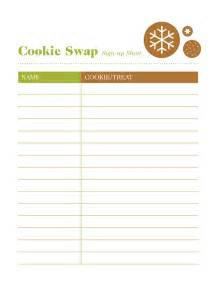 cookie exchange recipe card template best photos of cookie exchange sign up template