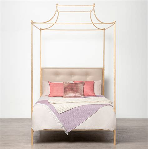queen four poster bed carissa queen canopy top four poster metal bed mecox gardens