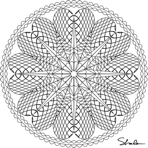 Difficult Mandala Coloring Pages Printable | printable difficult coloring pages coloring home